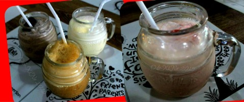 Baguio Calajo Foodhouse vanilla, strawberry, oreo vanilla and rootbeer shakes 2015