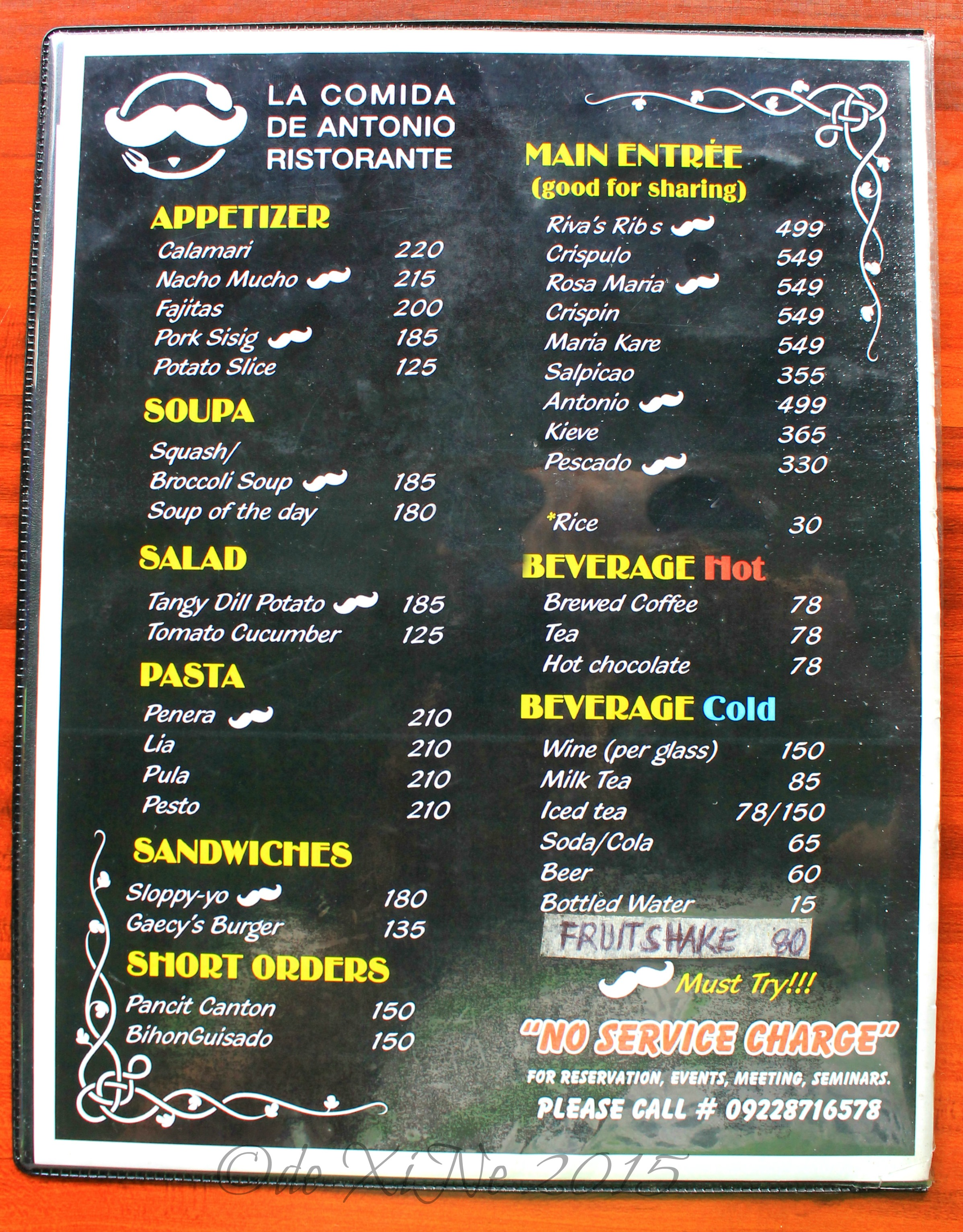 Baguio dining a la carte keeping up with the food quest for Menu comida