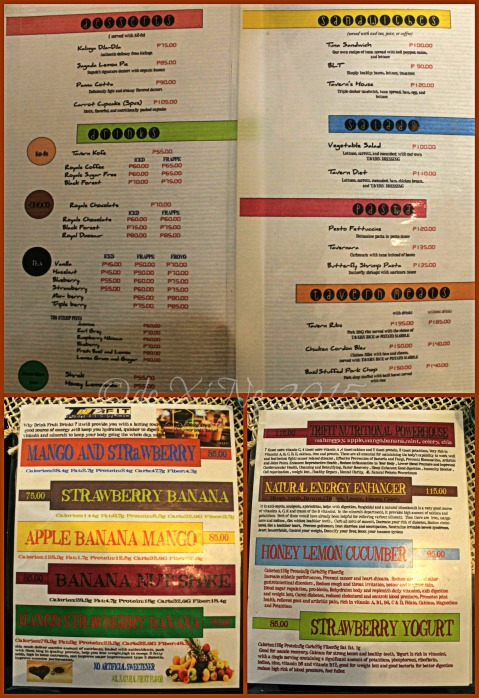 2015-06-06 Baguio Kofe Tavern menu