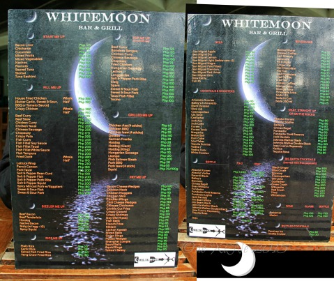 2015-06-08 Baguio Whitemoon Bar and Grill lunch menu