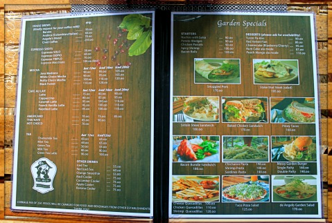 2015-06-11 Baguio Cafe de Angelo 2015 menu