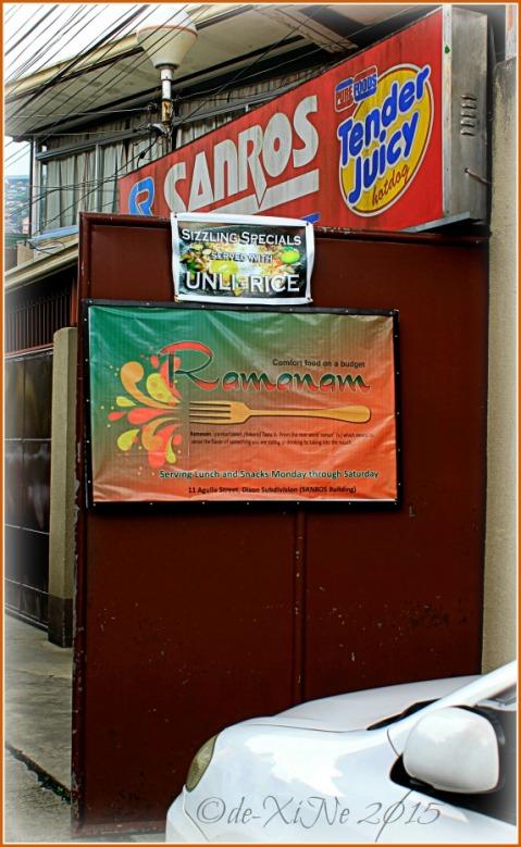 Baguio Ramanam eatery at Sanros building