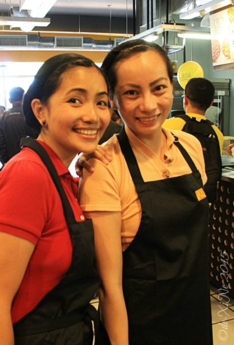 Baguio Yellow Cab Pizza Co SM Baguio branch  X and Queen Ane in hairnet and apron ready to make our own pizza