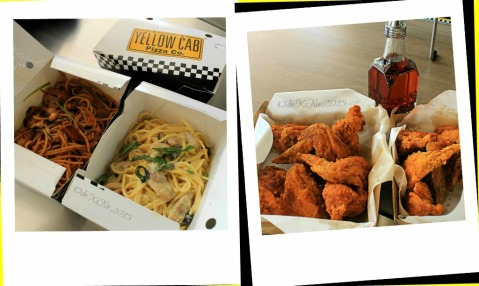 Baguio Yellow Cab Pizza Co SM Baguio branch Charlie Chan chicken pasta, chicken alfredo pasta and hot wings