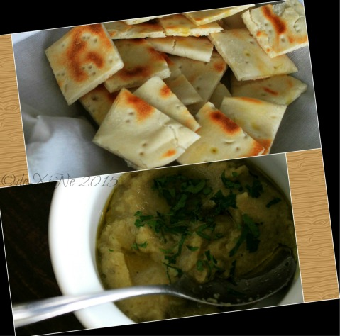 Baguio Foggy Mountain Cookhouse babaganoush and pita bread 2015