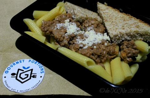 Baguio Gourmet Portions beefy penne pasta
