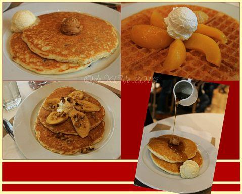 Baguio Pancake House SM Baguio branch choco chip pancakes, peach waffles, caramel banana walnut pancakes