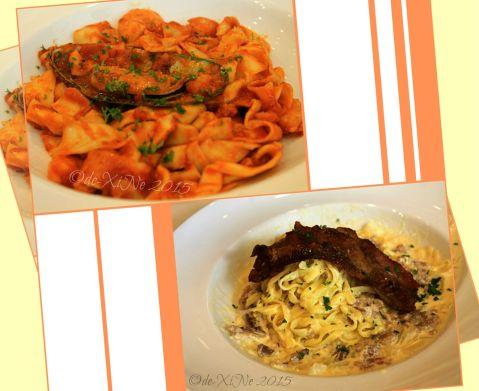 Baguio Pancake House SM Baguio branch pastas: Seafood gambero and carbonara