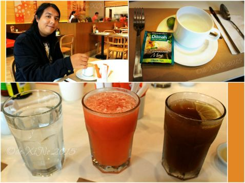 Baguio Pancake House SM Baguio branch some drinks coffee, tea, four seasons, house blend iced tea.