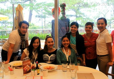hobnobbing with Baguio Pancake House SM Baguio branch managers Maam Grace and Maam April and marketing assistant Maam Marielle