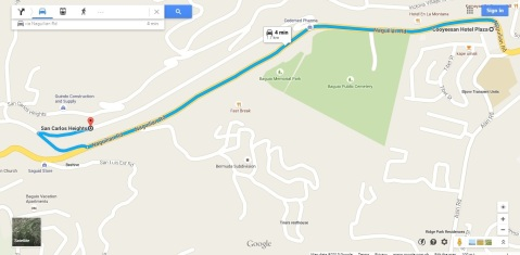 Baguio Map Foggy Mountain Cookhouse by Google Maps