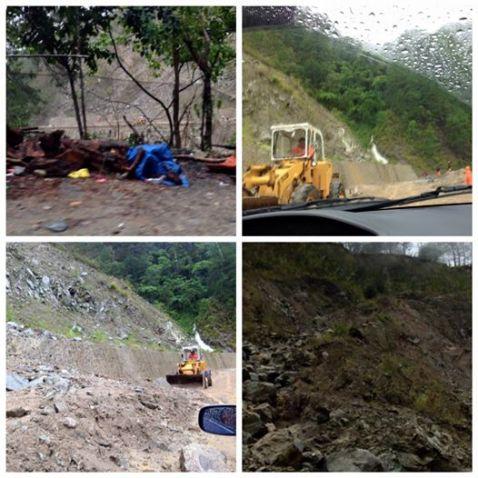 2015-08-21 Baguio-Vizcaya Road landslide in typhoon Ineng