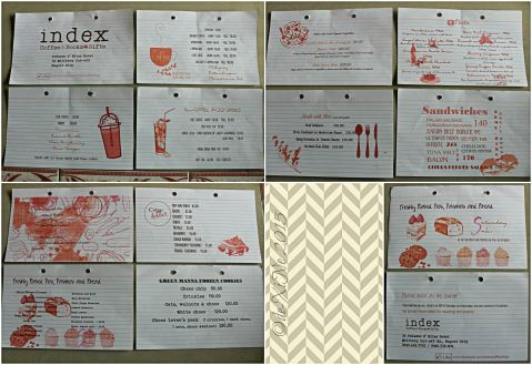 Baguio Index Coffee Books Gifts at Palazzo d'Bliss Hotel menu