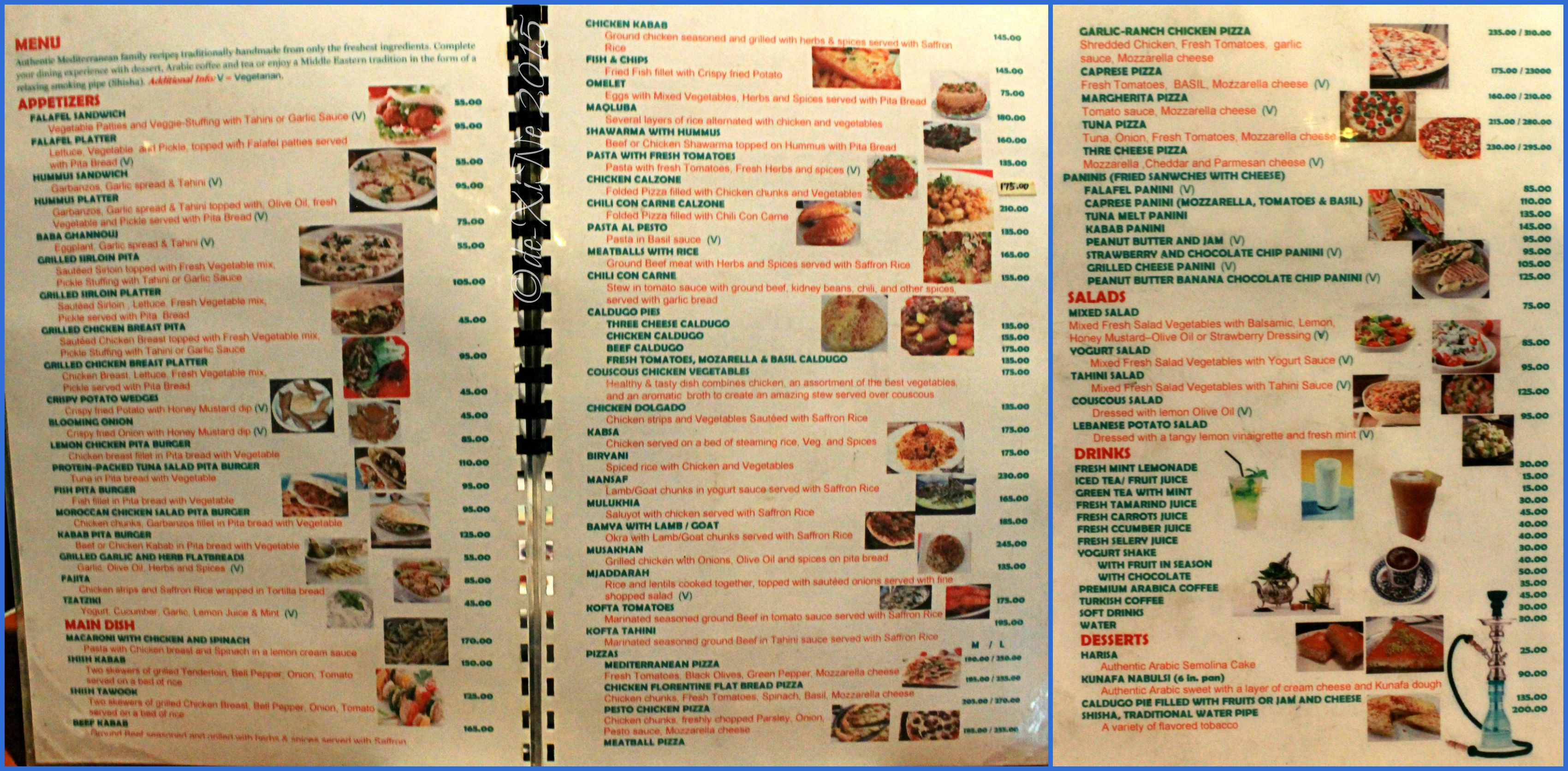 Earth Bistro Cafe Menu