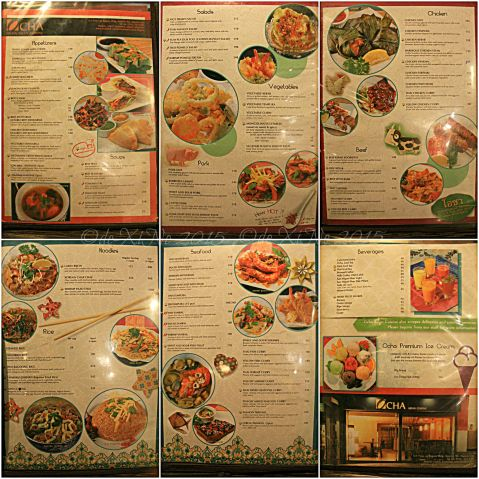 Baguio Ocha Asian Cuisine menu
