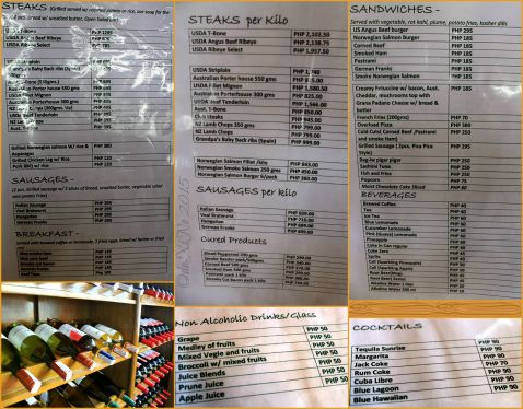 Baguio Bag-iw Euro Foods & Steakhouse menu