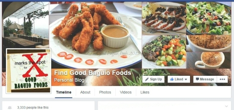 Find Good Baguio Foods Facebook page header screenshot 2015