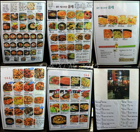 Baguio Ole Korean Restaurant menu