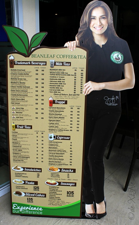 Baguio BeanLeaf Coffee Tea and More menu