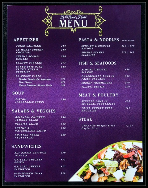 2015-09-30 Baguio Le Monet Hotel French cuisine launching new menu