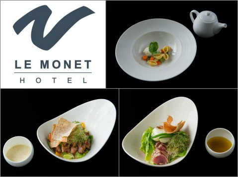 2015-09-30 Baguio Le Monet Hotel soup and salad starters