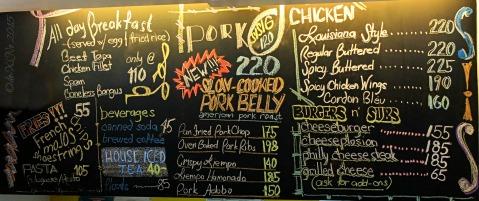 Baguio Chef Dudung Restaurant menu