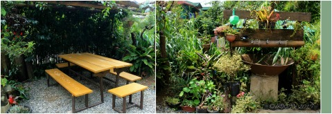 Baguio Farmer's Daughter Restaurant al fresco table and wash area