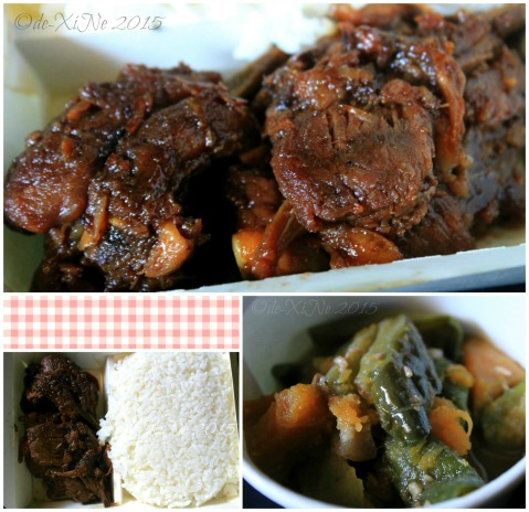 2015-11-03 Baguio Pot o' Gold by the Pink Shop grilled spareribs rice meal with pinakbet side dish (5)