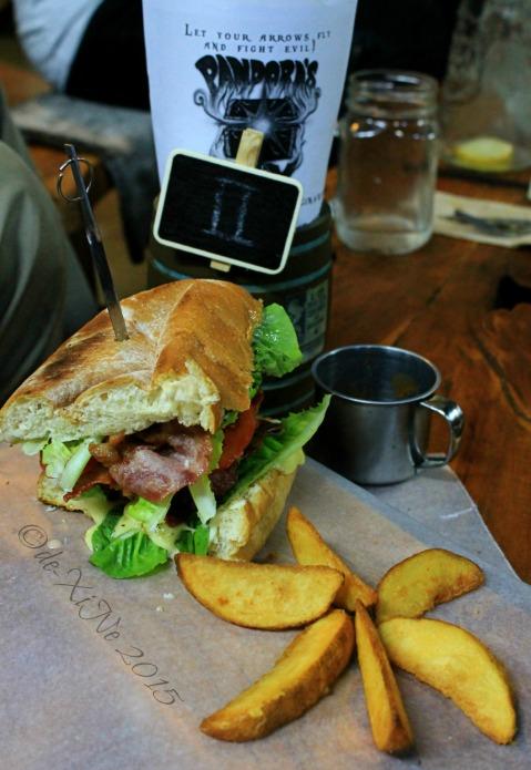 2015-11-10 Baguio Pandora's Box Tavern Cafe King Arthur's BLTC sandwich