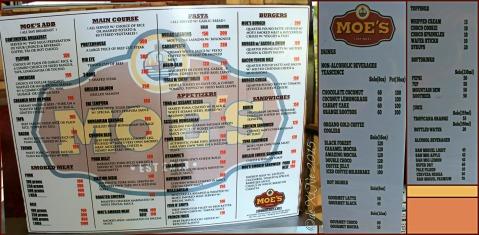 Baguio Moe's Outrageous Resto Deli menu 2015