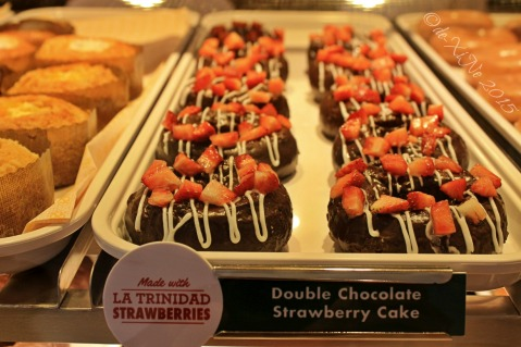 Baguio Krispy Kreme double chocolate strawberry cake donut 2015