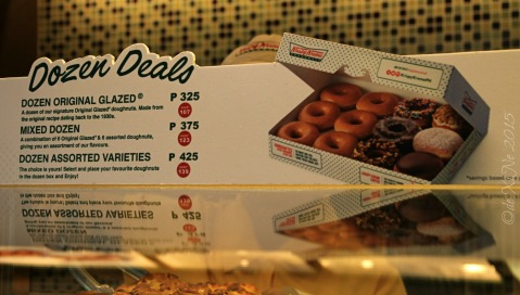 Baguio Krispy Kreme menu price list 2015