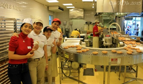 Baguio Krispy Kreme X in the Krispy Kreme kitchen 2015