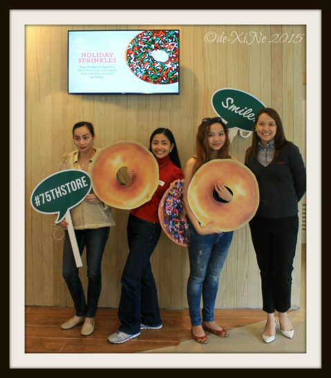 Tres blogging Marias at Baguio Krispy Kreme 2015