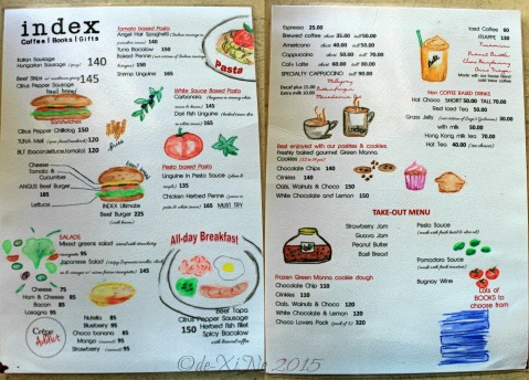 2015-10-31 Baguio Index Cofee Books Gifts menu
