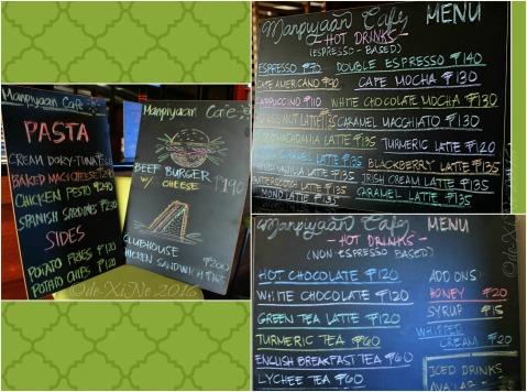 2016-01-31 Baguio Manpiyaan Cafe menu (1)