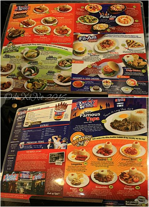 2016-02-07 Baguio Rufo's Famous Tapa menu (1)