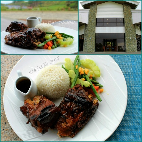 Baguio Manduto Restaurant at Pinewoods Golf and Country Club pork spare ribs with Asian salad and rice