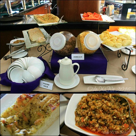 cereals, bread and fresh fruits station at Baguio Voyager Restaurant at El Cielito Inn (3)a