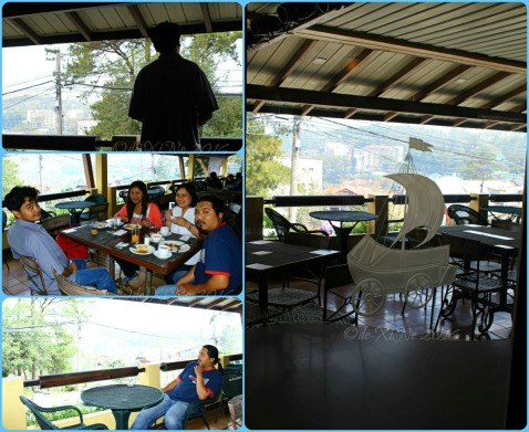 hanging out at Baguio Voyager Restaurant at El Cielito Inn balcony