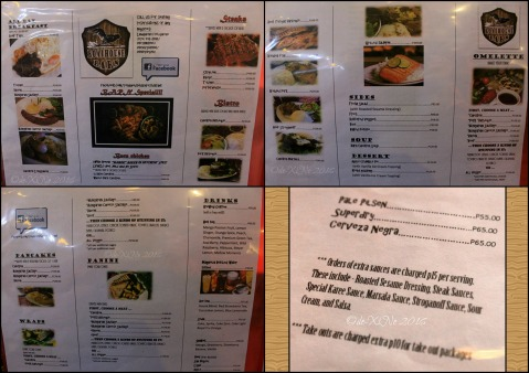 2016-03-21 Baguio Roadhouse Barn Restaurant menu