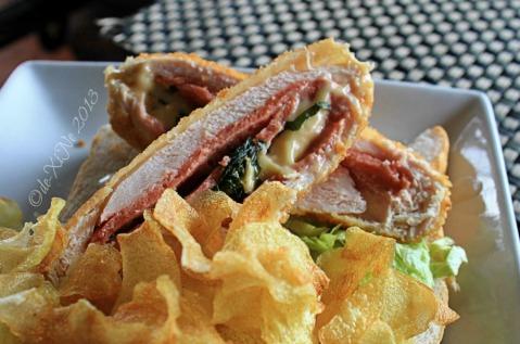 2013-12-05 Baguio Bay Leaf Restaurant by Cris d Cuisine (2) top down ham 'n cheese chicken sandwich