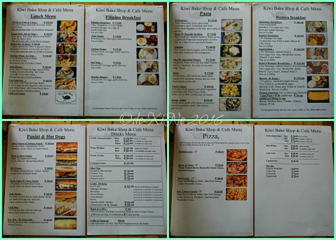 2016-03-03 Baguio Kiwi Bakeshop and Pastries menu