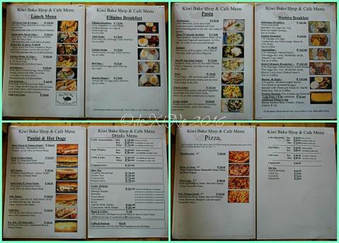 2016-03-03 Baguio Kiwi Bakeshop and Pastries menu