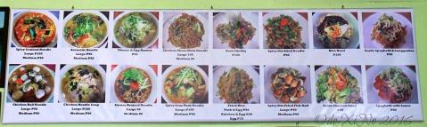2016-03-15 Baguio Noodle King Eatery menu