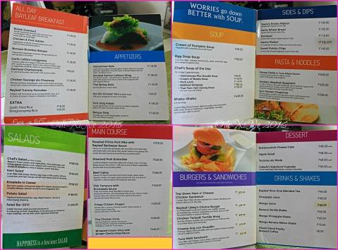 2016-03-28 Baguio Bay Leaf by Cris 'd Cuisine menu