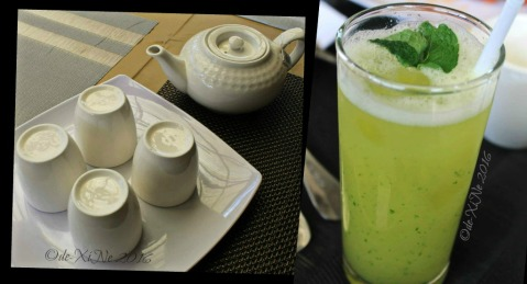 Baguio Garahe - weekend restaurant-cafe pot of tea and glass of lemon cucumber