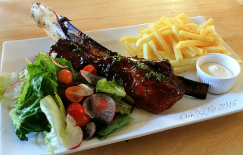 2016-01-31 Baguio Masa Mexitalian beef ribs with salad and fries