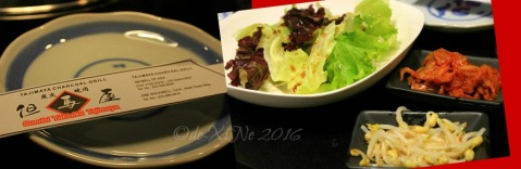 2016-05-14 Baguio Tajimaya Charcoal Grill salad starter and side dishes
