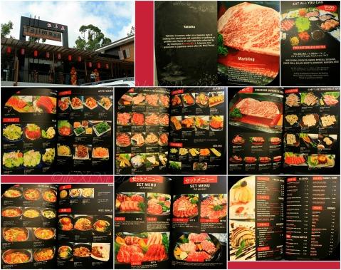 2016-05-14 Baguio Tajimaya Charcoal Grill menu